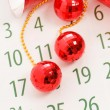 Christmas calendar page -  