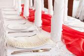 Wedding table setting — ストック写真