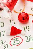 Página de calendário de natal — Foto Stock