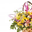 Nice flowers in the basket - Stock Photo