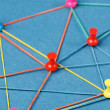 Network with pins - Stock Photo