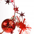 Christmas balls and stars — Stock Photo