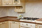 Interior da cozinha moderna — Fotografia Stock