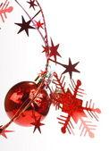 Vánoční koule a hvězdy — Stock fotografie