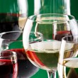 Stock Photo: Wine glasses