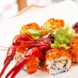 Sushi with see cancer — Stock Photo #15694507