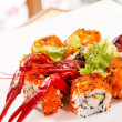 Sushi with see cancer — Stok fotoğraf