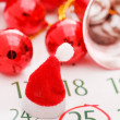 Christmas calendar page — Stock Photo #16951327