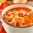 Winter bean soup - Stock Photo
