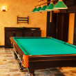 Billiards interior — Stock Photo