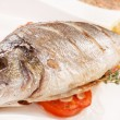 Stock Photo: Roasted fish