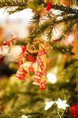 Cookies on Christmas tree — Stock Photo