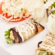 Stock Photo: Vegetables stuffed with cottage cheese