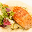 Salmon Steak with Vegetables — Stock Photo #18197445