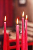 красные свечи — Стоковое фото