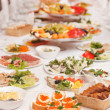 Stock Photo: Food at wedding party