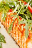 烤三文鱼 — 图库照片