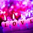 Romantic candles - Foto Stock