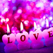 Romantic candles - Stockfoto