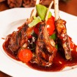 Roasted lamb ribs - Stock Photo