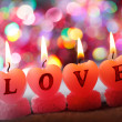 Romantic candles - Stock Photo