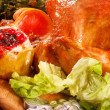 Garnished roasted turkey — Stock Photo #19463641