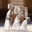Ice sculpture in the Lviv — Stock Photo