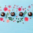 Chocolate Valentine's present — Stock Photo