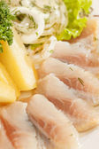 Herring with potatoes — Stock Photo