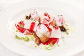帆立貝のシーフードの前菜 — ストック写真