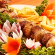 Kebab on skewers - Stock Photo