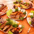 Grilled dishes - Stock Photo