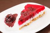 Cherry cheesecake — Stock Photo