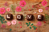 Chocolate Valentine's present — Stock Photo
