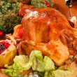 Garnished roasted turkey — Stock Photo #20534953
