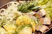 Matjes with Potatoes — Stock Photo