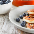 Blueberry pancakes — Stock Photo