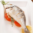 Roasted fish - Stock Photo