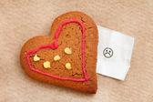 Heart cookie — Stock Photo