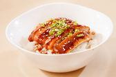 Eel on rice,unaju, japanese unagi cuisine — Stock Photo