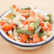 Stock Photo: Frozen vegetables