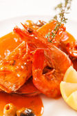 Fish with sauce — Stock Photo