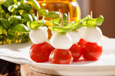 Tomato and mozzarella — Stock Photo