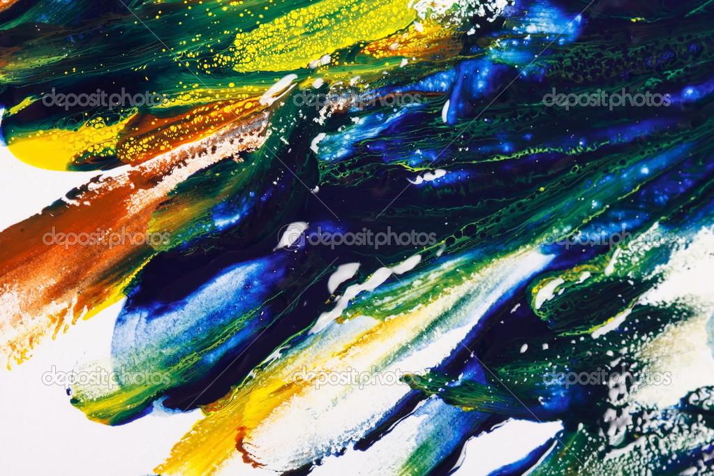 色彩鲜艳的油画颜料调色板