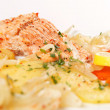 Salmon fillet with potatoes - Photo