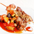Stock Photo: Meat kebab with vegetables