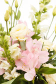 Flowers in the basket — Stock Photo