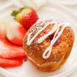 Stock Photo: Muffin with strawberry