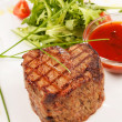 Grilled steak with sauce — 图库照片
