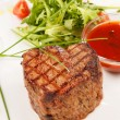 Grilled steak with sauce — Stok fotoğraf